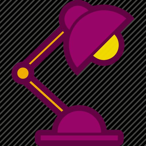 desk, futniture, lamp, light, table icon