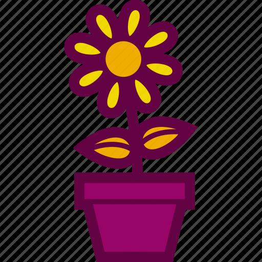 flower, flowerpot, garden, nature, pot icon