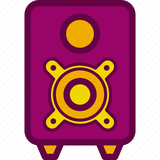 sound, speaker, sub, subwoofer, woofer icon