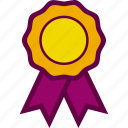 best, champion, label, medal, prize, win icon