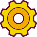 configuration, gear, preferences, settings, wheel