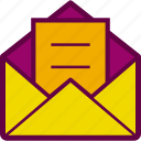 email, inbox, letter, mail, send icon