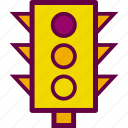 light, lights, semaphore, traffic icon