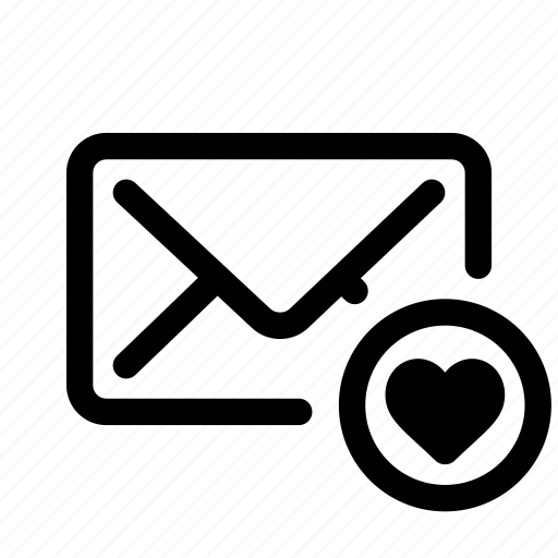 email, envelope, inbox, like, love, mail, send icon