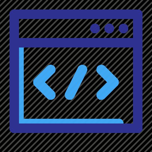 coding, program, programming icon