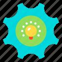business, finance, gear, idea, marketing, seo icon