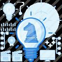 chess, idea, illuminate, light, lightbulb, strategy, thought icon