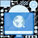 computer, cursor, internet, monitor, network, online, screen