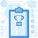 achievement, award, chart, clipboard, reward, seo, trophy