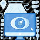 computer, eye, monitor, screen, view, visibility, vision
