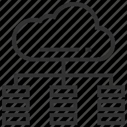 cloud, communication, connection, database, internet, seo, storage icon