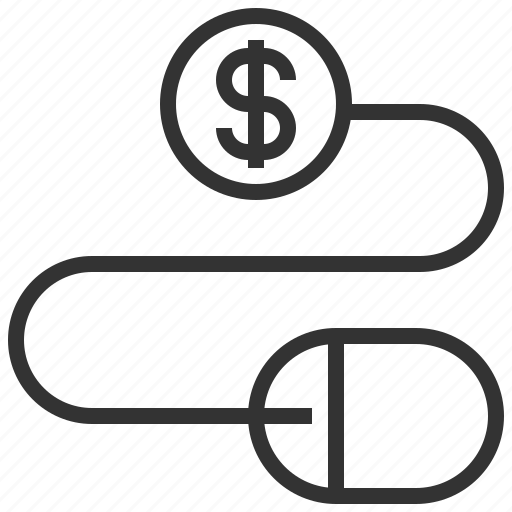 business, click, ecommerce, pay, per, shopping icon