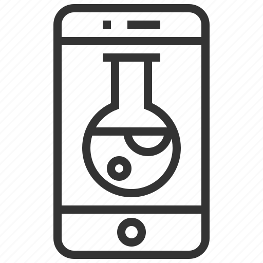 chemistry, device, research, science, smartphone icon