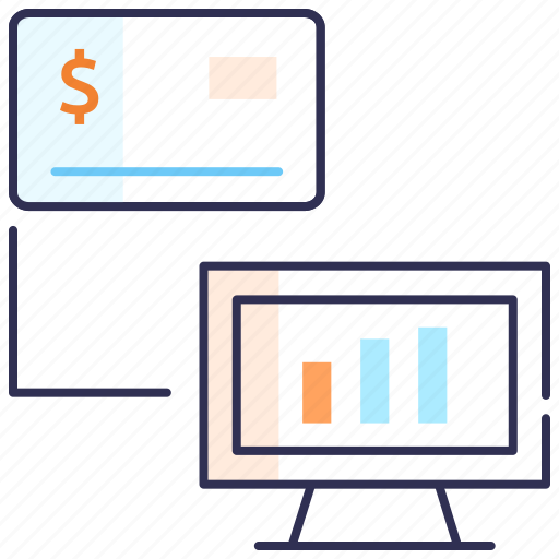 banking, cash, credit card, electronic business, money, payment, seo icon