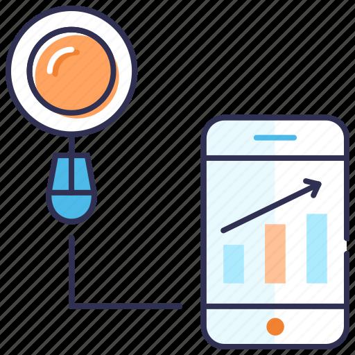 analytics, dashboard, optimization, search, search results, seo icon
