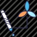 color picker, design, ink, logotype, marker, tools