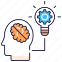 brain training, brainstorming, creativity, idea, seo process, solution, vision icon