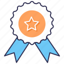 achievement, award, badge, best, quality, reward icon