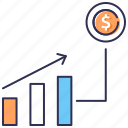analytics, bar graph, chart, dashboard, growth, inflation, statistics