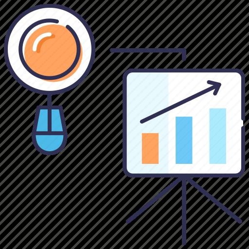 analysis, bar chart, dashboard, presentation, seo, statistics icon