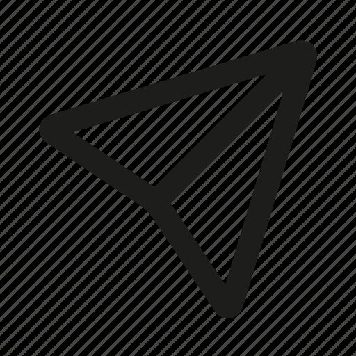 arrow, direction, marketing, navigation, seo icon