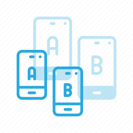 ab, app, comparing, mobile, split, test, testing icon