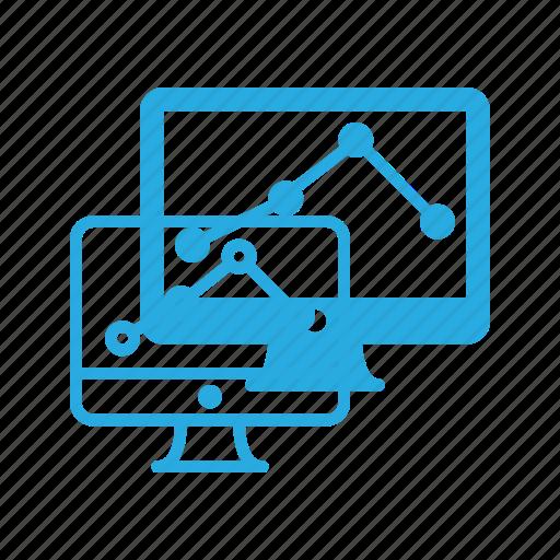 analytics, diagram, maket, monitor, monitoring, seo icon