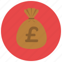 british, currency, finance, money, pound icon