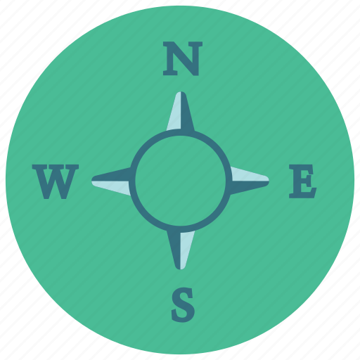 compass, directions, east, north, south, west icon