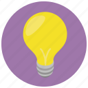 idea, lightbulb, think, thought icon