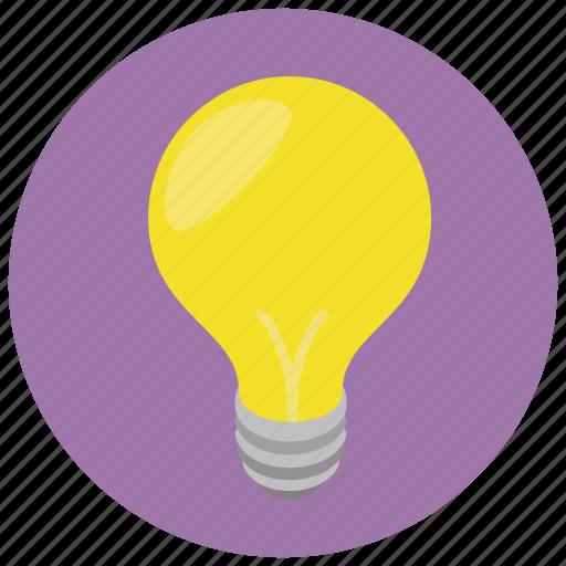 idea, lightbulb, think, thought icon