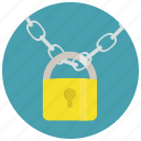 chain, lock, locked, padlock, security icon