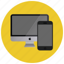 computer, device, monitor, multimedia, smartphone icon