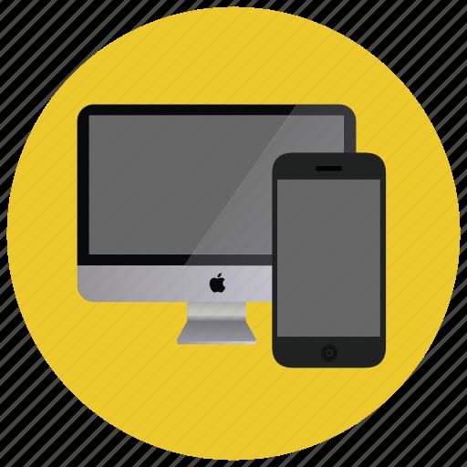 computer, device, monitor, multimedia, smartphone icon