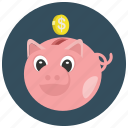finance, money, piggybank, savings icon