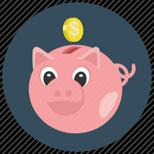 finance, money, piggybank, savings icon