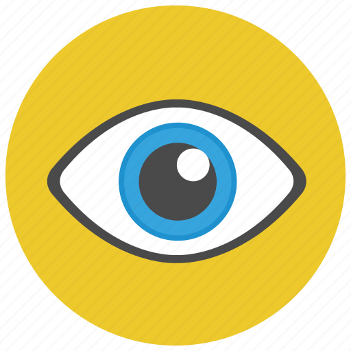 eye, view, visib;e, visual icon