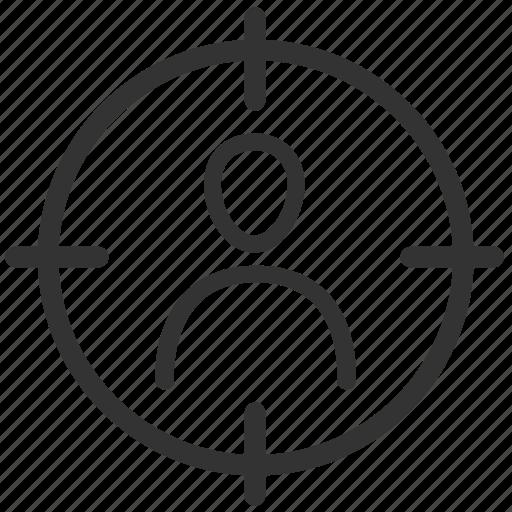 customer, marketing, point, seo, target, targeting, user icon