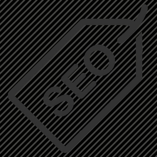 badge, ecommerce, keyword, label, seo, tag, web icon