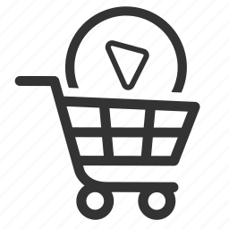 basket, business, cart, ecommerce, seo, shopping, video marketing icon