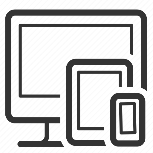 css, devices, optimization, platform, responsive, seo, web design icon