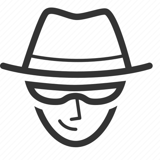 Black hat, detective, seo, seo consulting, tactic, criminal, thief icon - Download on Iconfinder