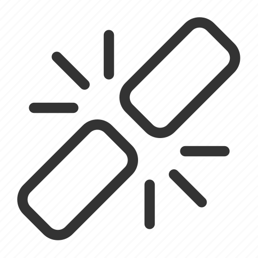 broken link, chain, dead link, link, seo, unchain, unlink icon