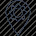 location, seo, setting icon