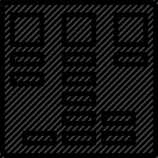 card sorting, organize, planning, scheme icon