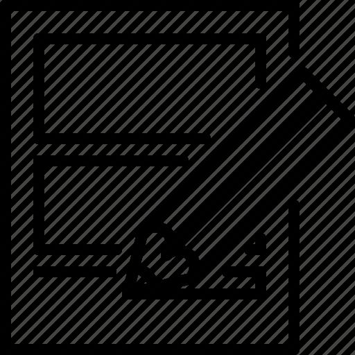 design, edit, sketching icon