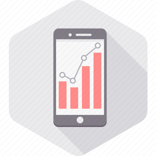 analysis, analytics, chart, diagram, graph, growth, mobile icon
