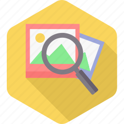 find, image, magnifier, photo, photography, picture, search icon