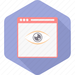 design, eye, look, page, view, web, website icon