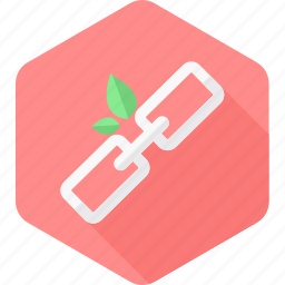 chain, connection, ecology, leaf, link, network icon